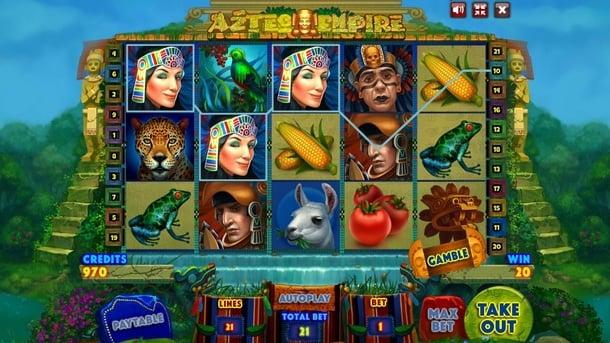 Выигрышная комбинация в Aztec Empire