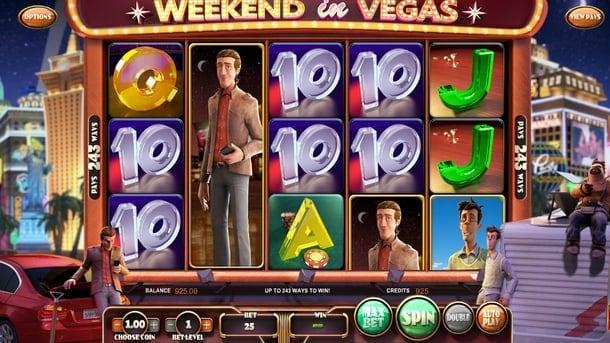 Выигрышная комбинация в автомате Weekend in Vegas