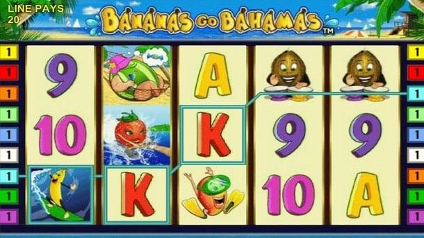 Выигрышная комбинация на Bananas go Bahamas